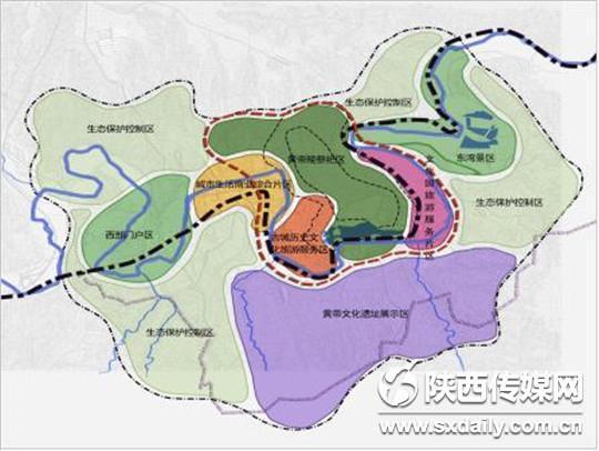 黄帝文化园区总体规划结构图