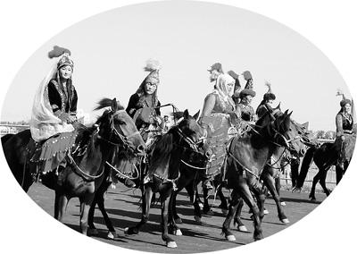 木垒美丽的哈萨克姑娘-木垒 民族和谐的家园