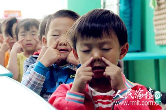 九十一团幼儿园开展爱眼日主题活动