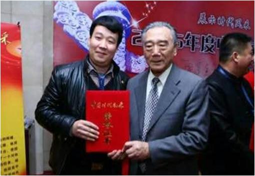"""我国著名青年书画家董安安荣获2015年""""中国时代英才""""人物称号图片"""