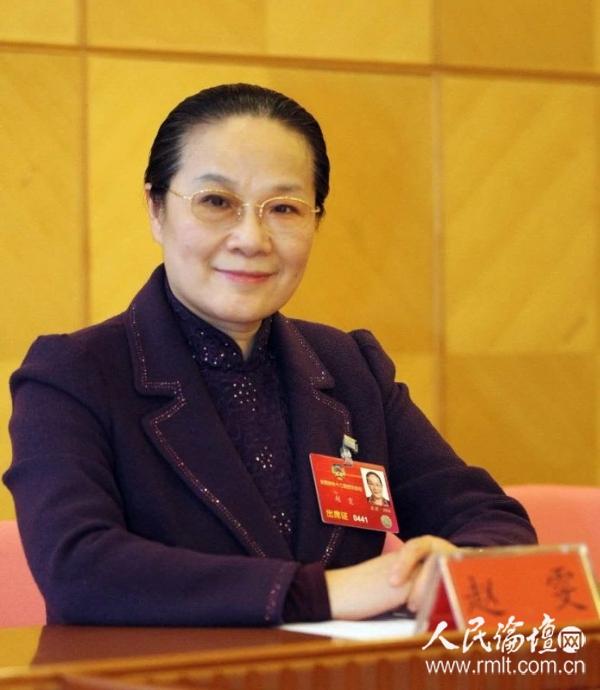 赵雯副市长在北京两会上 上海市政府提供