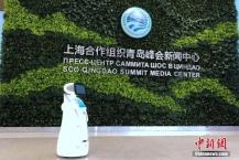 多款智能机器人进驻上合青岛峰会新闻中心