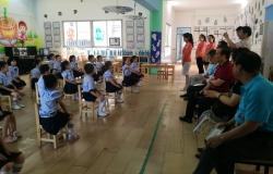 调研组一行在孝感市直幼儿园调研