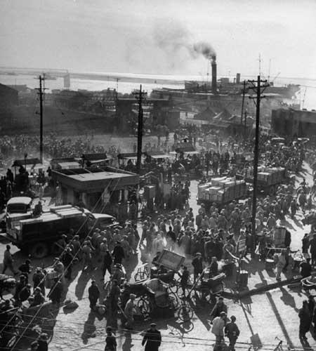 南京,1949年4月,从南京撤退.-1949年实拍国民政府撤离南京
